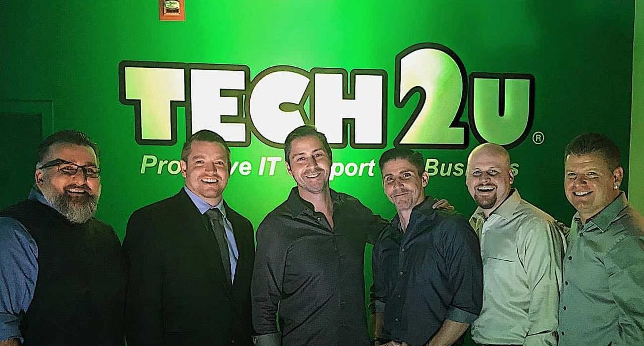 Tech 2U's executive management team. Left-right: Ari (CTO), Danny (COO), John (CEO and Founder), Michael (CFO), Ian (General Manager), Todd (CIO and Co-Founder)